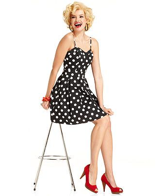 00366ce593e8 In stores now! Marilyn Monroe for Macy s!  marilynmonroe  fashion  style   polkadots  dress BUY NOW!