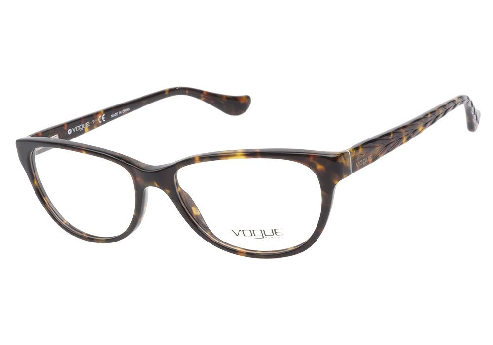 42f5070367 Vogue VO2816 W656 Havana eyeglasses are fashionably sophisticated. This  luxurious acetate frame has a faux cateye shape with a dark brown havana  finish and ...