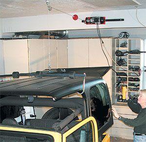 Power Hoist A Top Jeep Accessoryhttp Www Langeoriginals Com Hoist Htm Jeep Hardtop Storage Jeep Tops Jeep