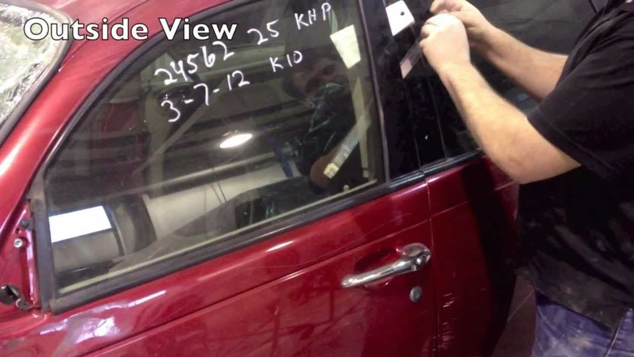 How to unlock car door using a plastic strap when locked