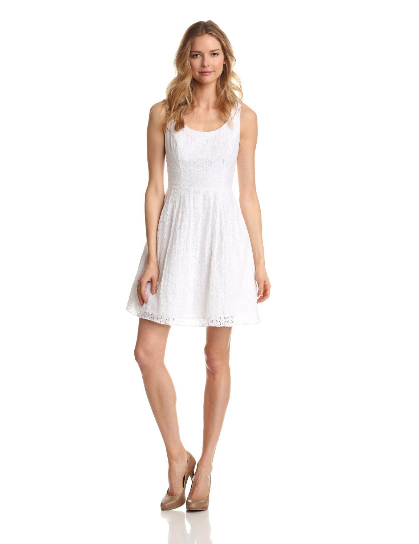 white dresses - this women's posey tank white dress is 60% cotton
