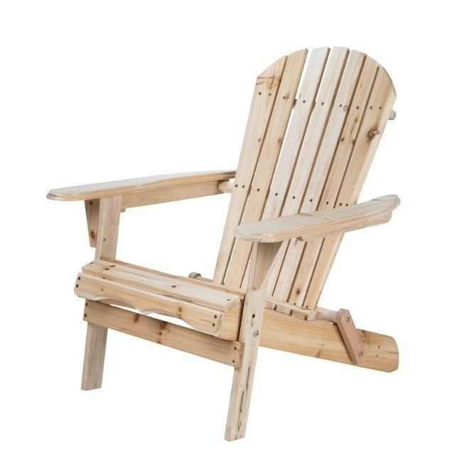 Living Accents Foldable Natural Wood Foldable Chair Patio