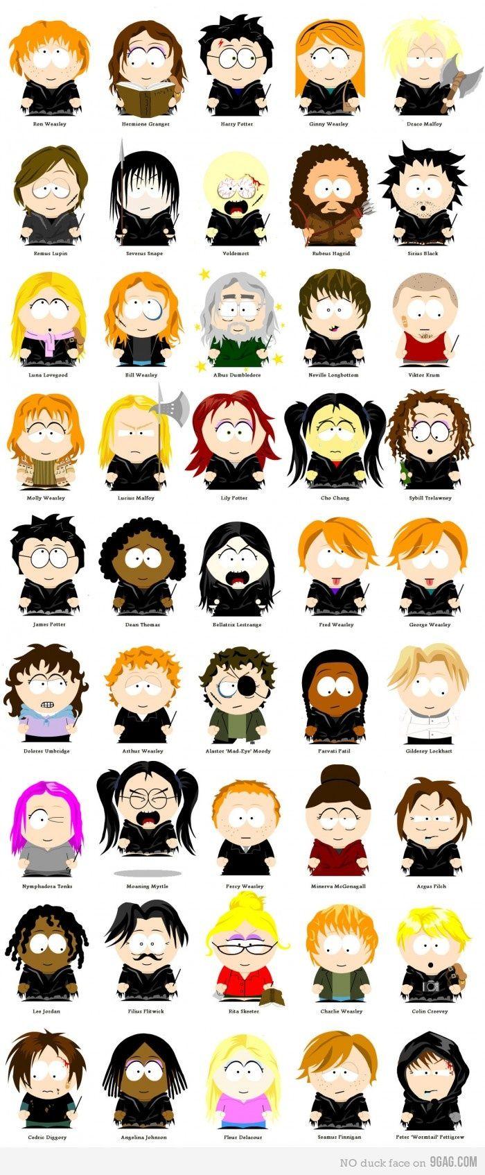 Harry Potter South Park Harry Potter Characters Harry Potter Universal Harry Potter Love