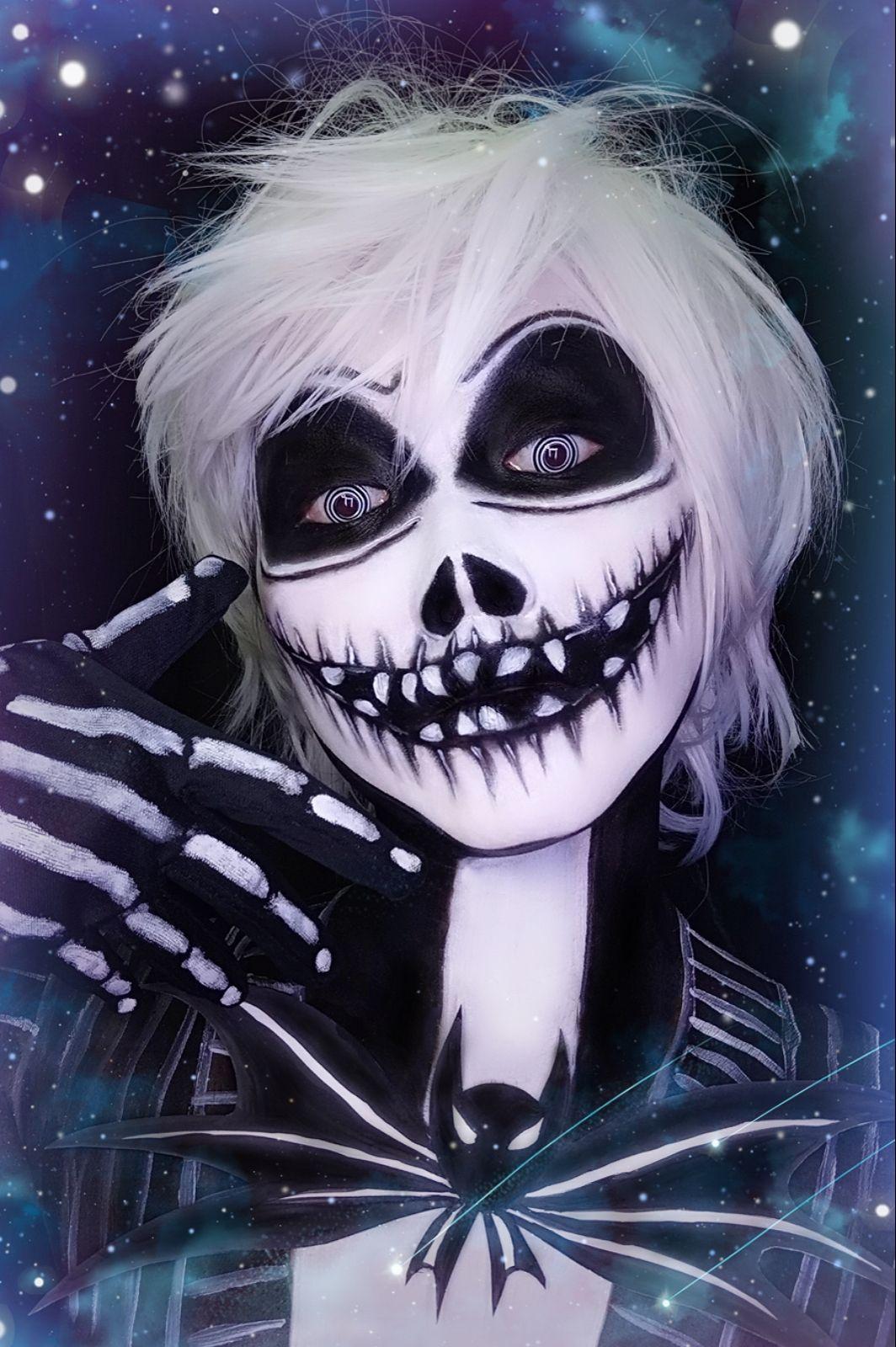 Jack Skellington Halloween make, Halloween make up