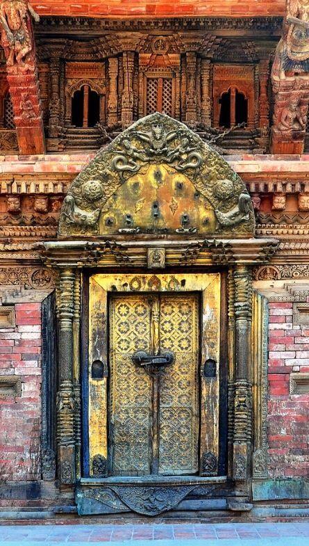 Photo of Nepal – Patan – Royal Palace Ratnakar Mahavihar – Golden Door – 7
