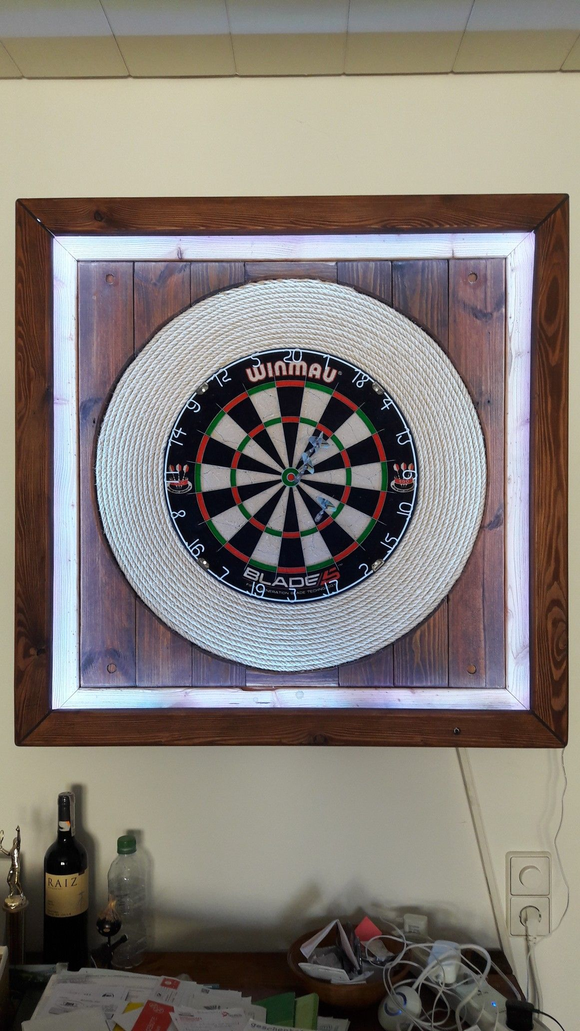 Darts Iv Dartboard Light Wall Clock Clock