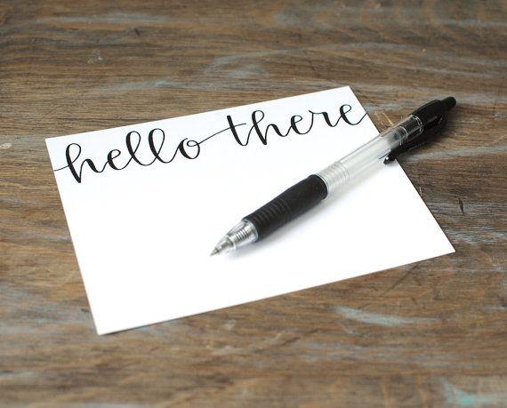 Hand drawn lettering hello spring elegant modern handwritten
