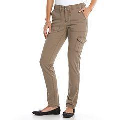 9dce119be4b9f SONOMA life + style® Slim Straight-Leg Cargo Utility Pants - Women's ...