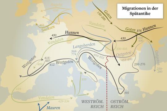 Was Die Volkerwanderung Mit Heute Verbindet Welt Volkerwanderung Das Romische Reich Romisch