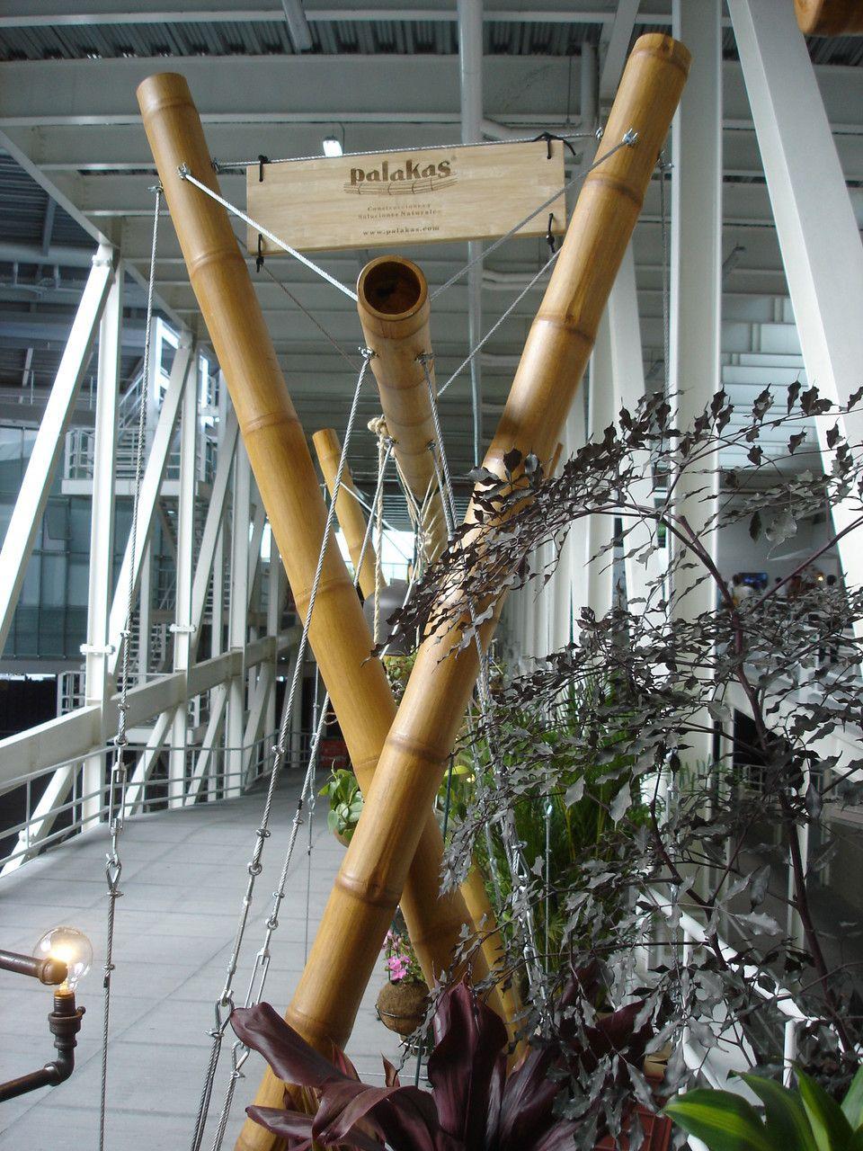 bambu con cables