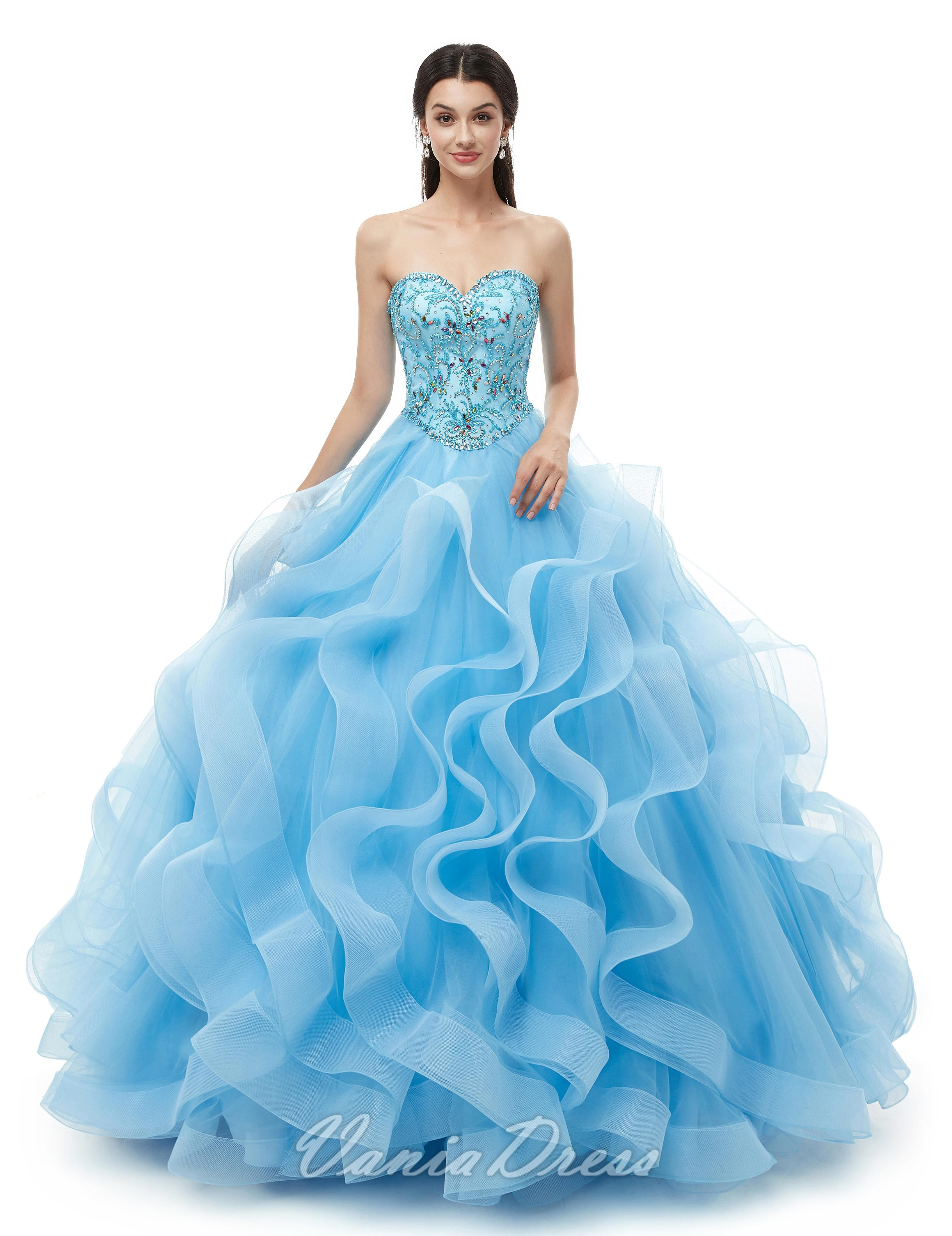 Ball Gown Sweetheart Organza Sweet 16 Quinceanera Dresses With Beads 250ds Ball Gowns Gowns Dresses [ 4247 x 3272 Pixel ]