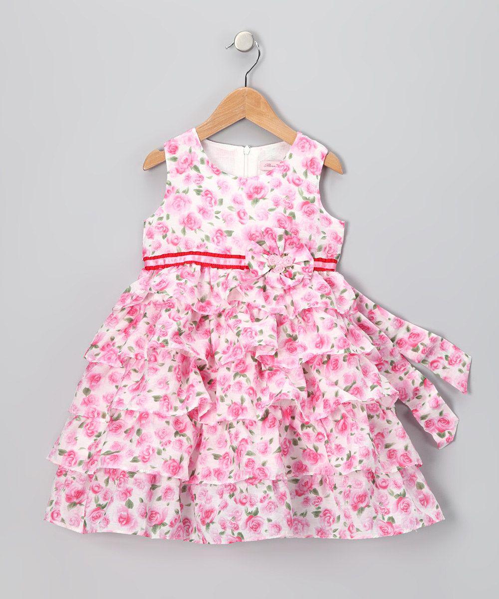 Pink dress baby  Loving this White u Pink Floral Dress  Infant Toddler u Girls on