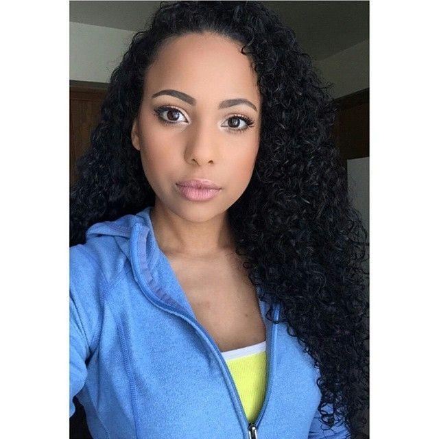 Hair and natural makeup