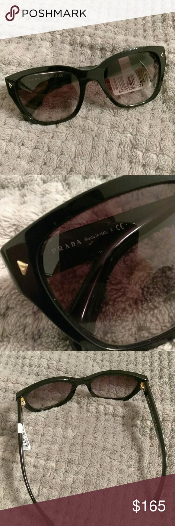 60c833af29e9 canada prada sunglasses pr 09ss 1ab9k1 54 90943 0cccf  closeout nwt prada  black frame sunglasses brand new with tags black gold prada sunglasses.  a5ea9