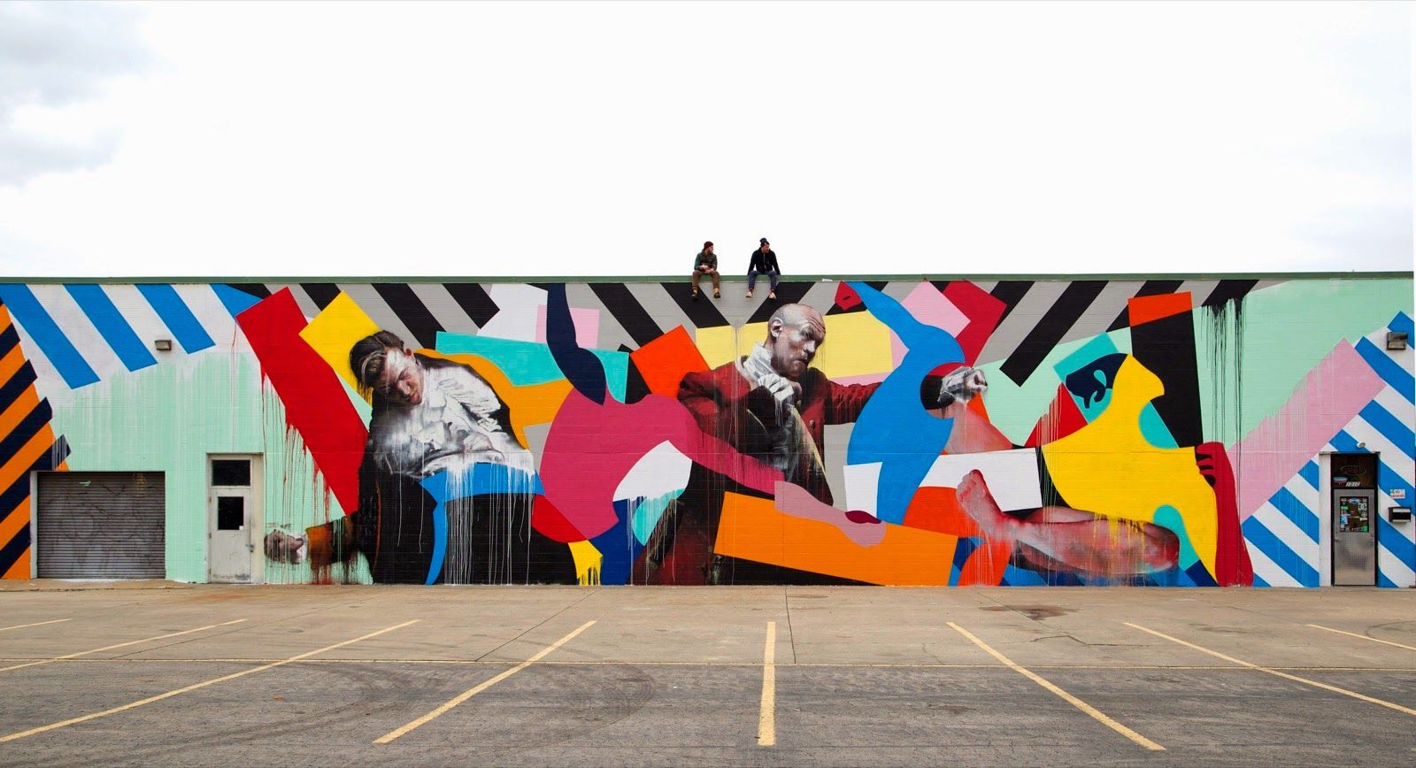 conor harrington and maser collaborate on a new mural in fort smith