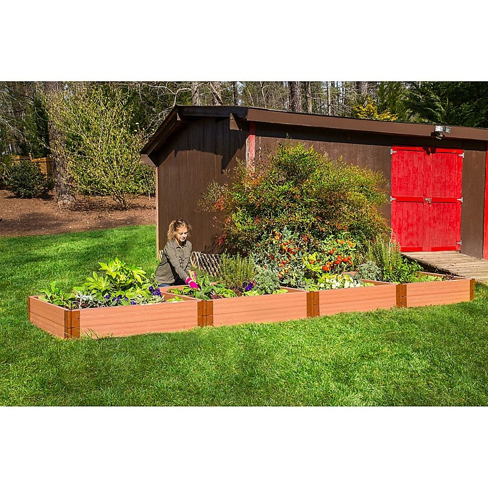 Frame It All 4Foot x 16Foot Raised Garden Bed Raised