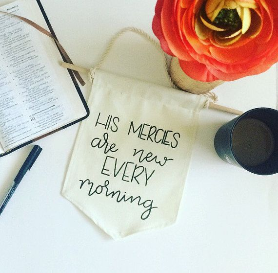 His Mercies Are New Every Morning Canvas by EdenAndEmeralds