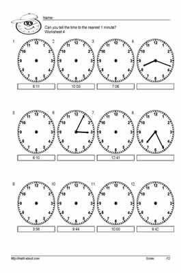 Time Worksheets time worksheets for grade 5 pdf : Time Worksheets : time worksheets to the minute Time Worksheets To ...