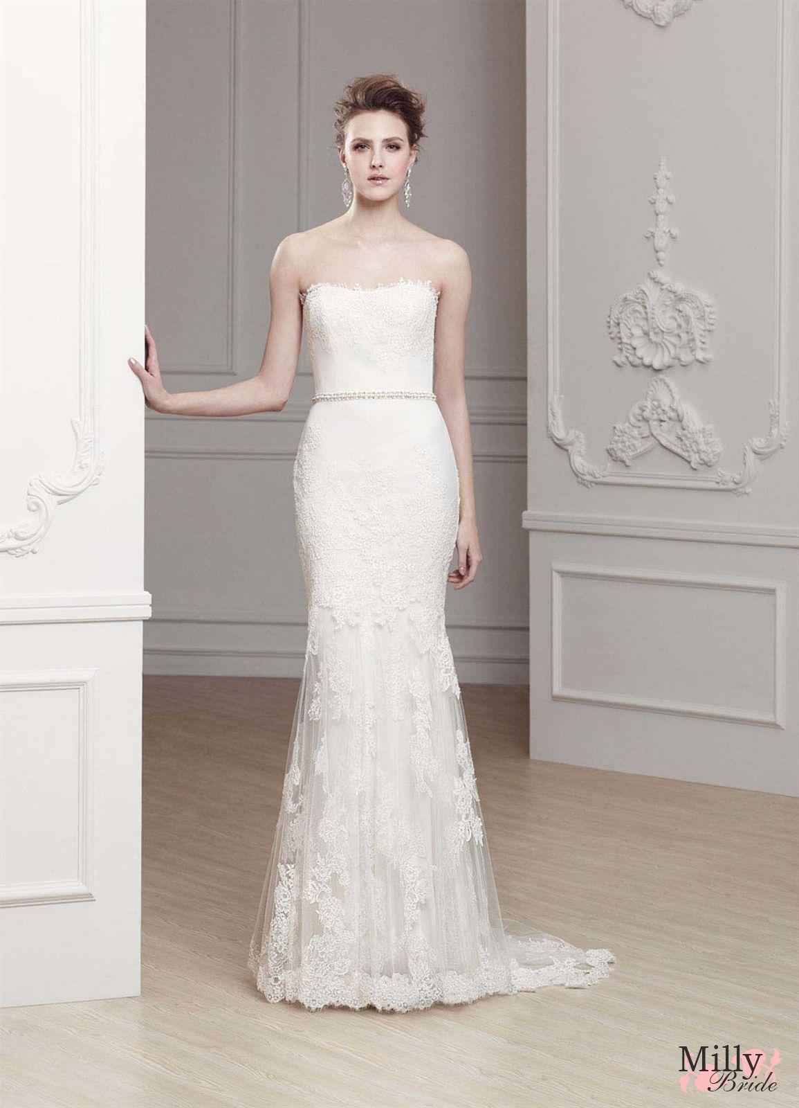 Elegant mermaid wedding dresses  Elegant mermaid strapless lace   The Dress  Pinterest