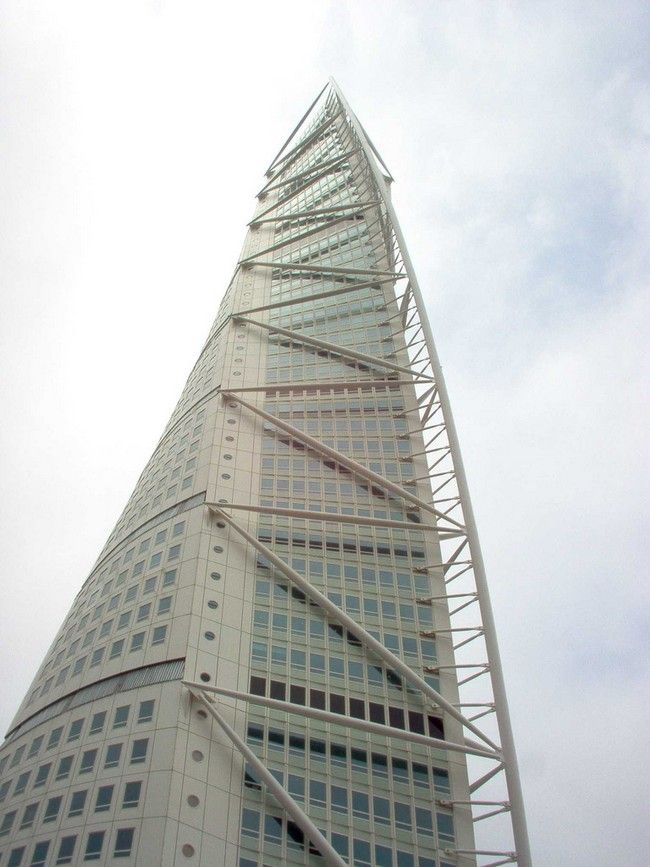 Located In Malmö, Sweden, On The Swedish Side Of The Öresund Strait, The HSB  Turning Torso Is The Tallest Skyscraper In Sweden And The Nordic Countries.