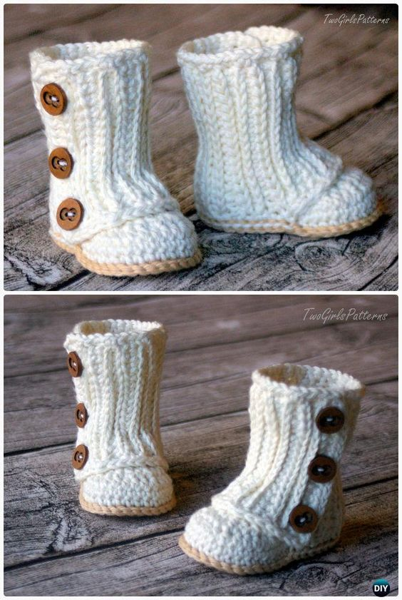 Crochet Baby Wrap Boots Pattern Crochet Ankle High Baby Booties