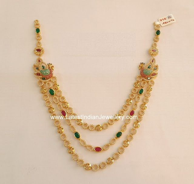 ccfb0e9adef83 3 Step CZ Peacock Necklace | Jewellery | Peacock necklace, Gold ...