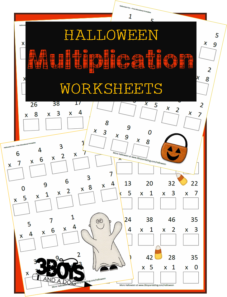 Halloween Printables: Multiplication Worksheets | Actividades para ...