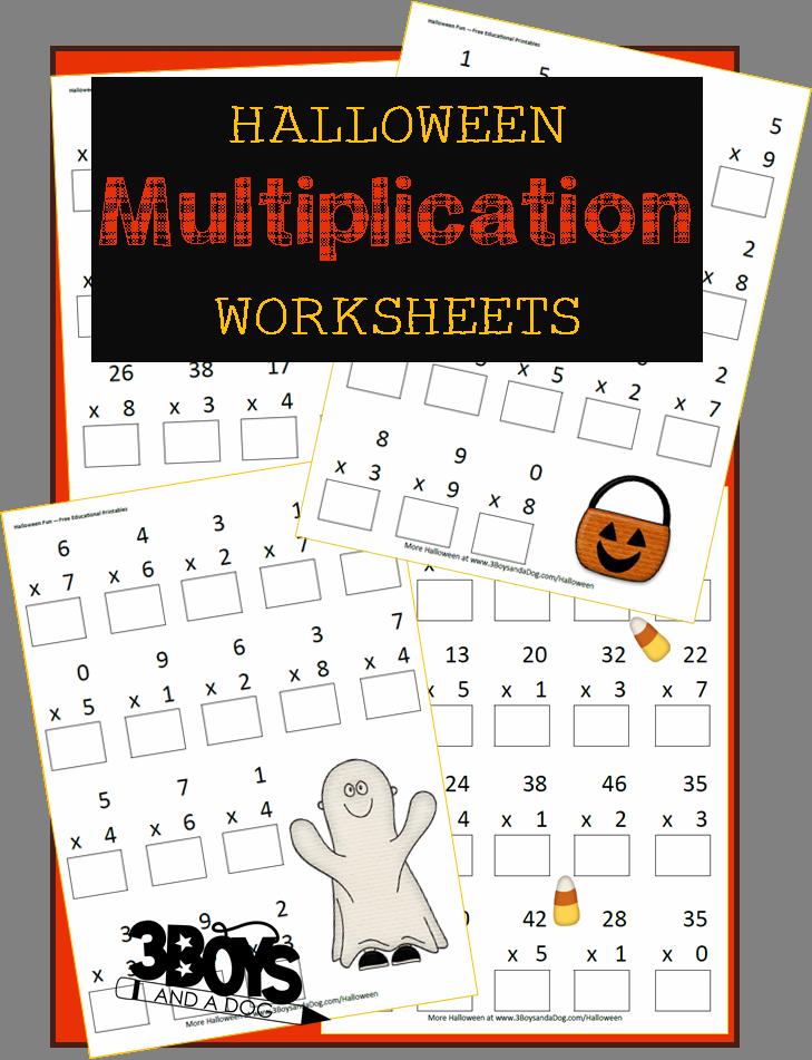 Halloween Printables: Multiplication Worksheets   Multiplication ...