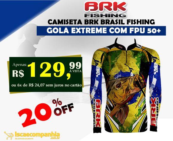Mais proteção para você. Camiseta BRK Brasil FPU 50+ 20d072b31c839