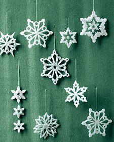 Wax Snowflakes Christmas Inspiration Diy Christmas Ornaments