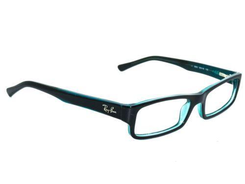 7d01023c60 Ray-Ban-Eyeglasses-RB-5246-5092-Black-Turquoise-Rectangular-Frame-50-16-135