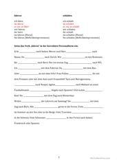 Konjugation \'SEIN\' * 3 Übungen * mit Lösung Arbeitsblatt ...