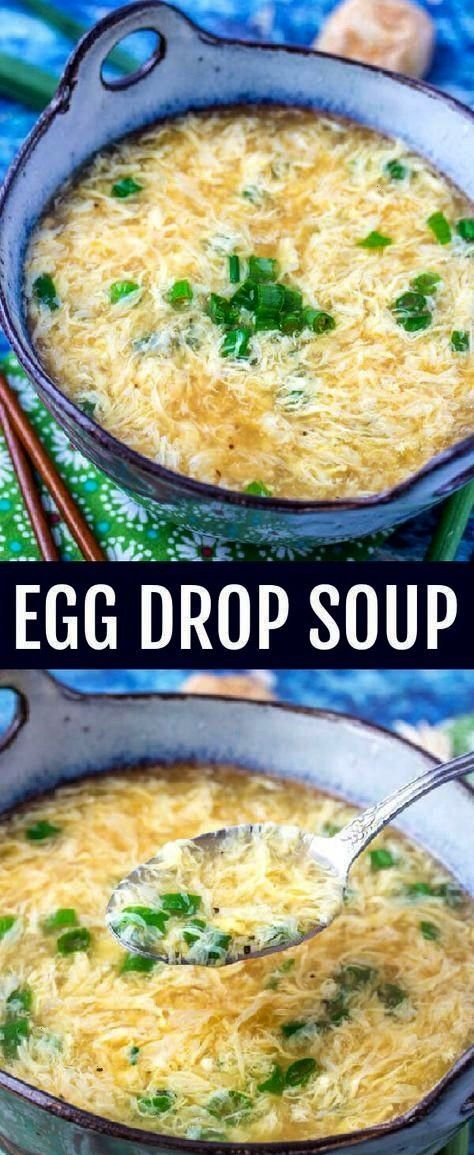 easy and comforting this Egg Drop Soup Recipe is as simple as they come with great flavor that will warm you up on a cool dayQuick easy and comforting this Egg Drop Soup...
