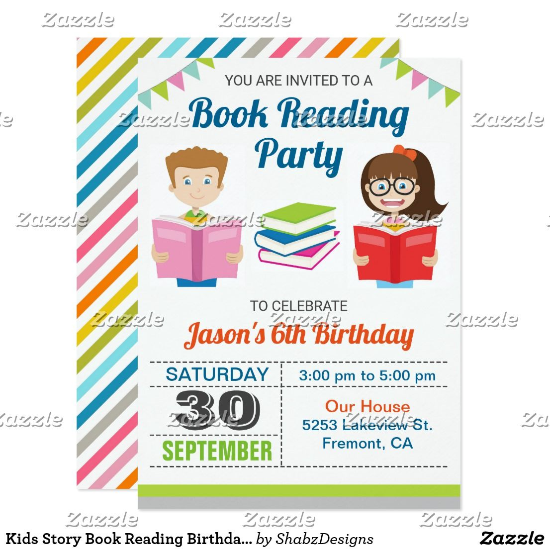 Kids Story Book Reading Birthday Party Invitation Amaze your guests ...