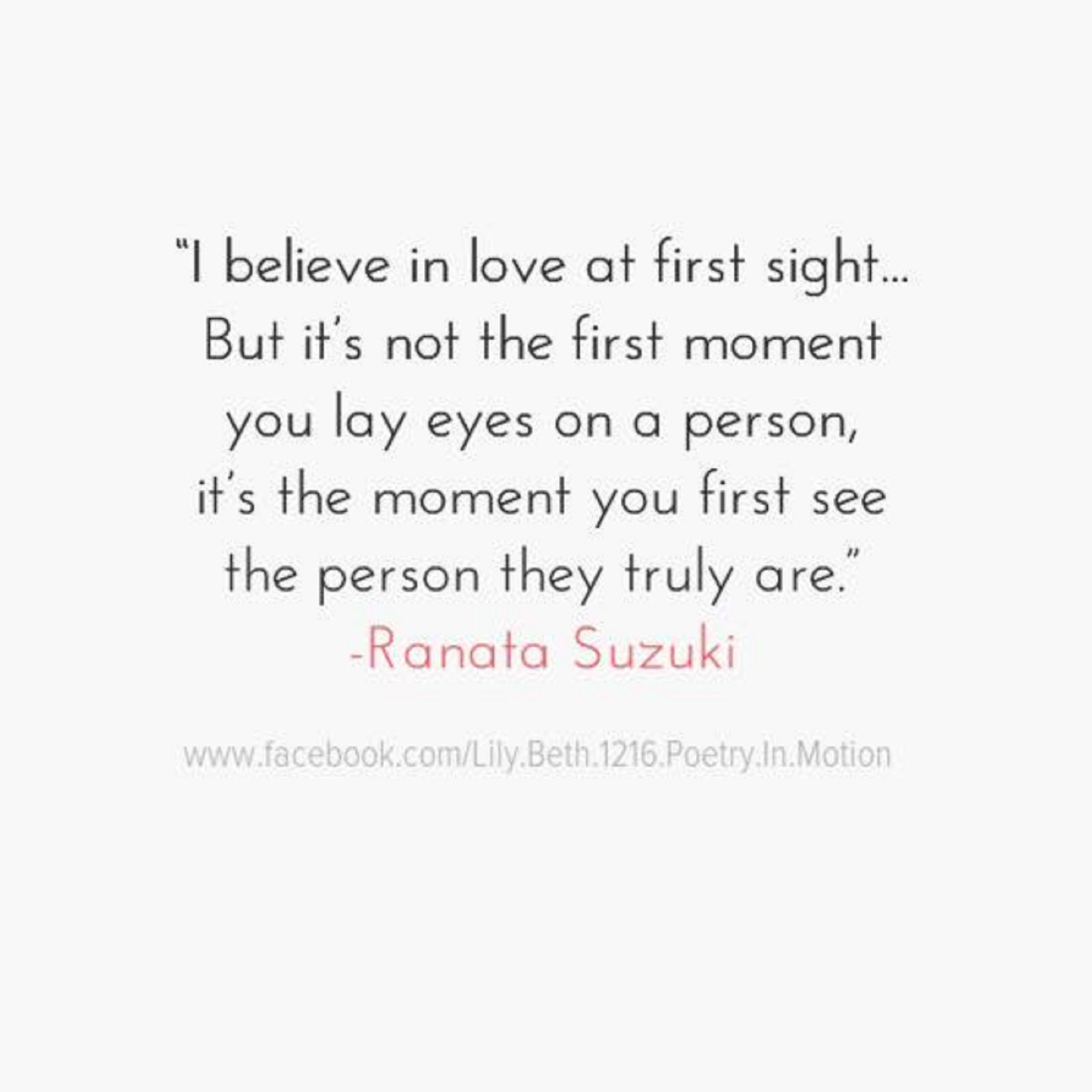 Believe In Love Quotes I Believe In Love At First Sight… But It's Not The First Moment