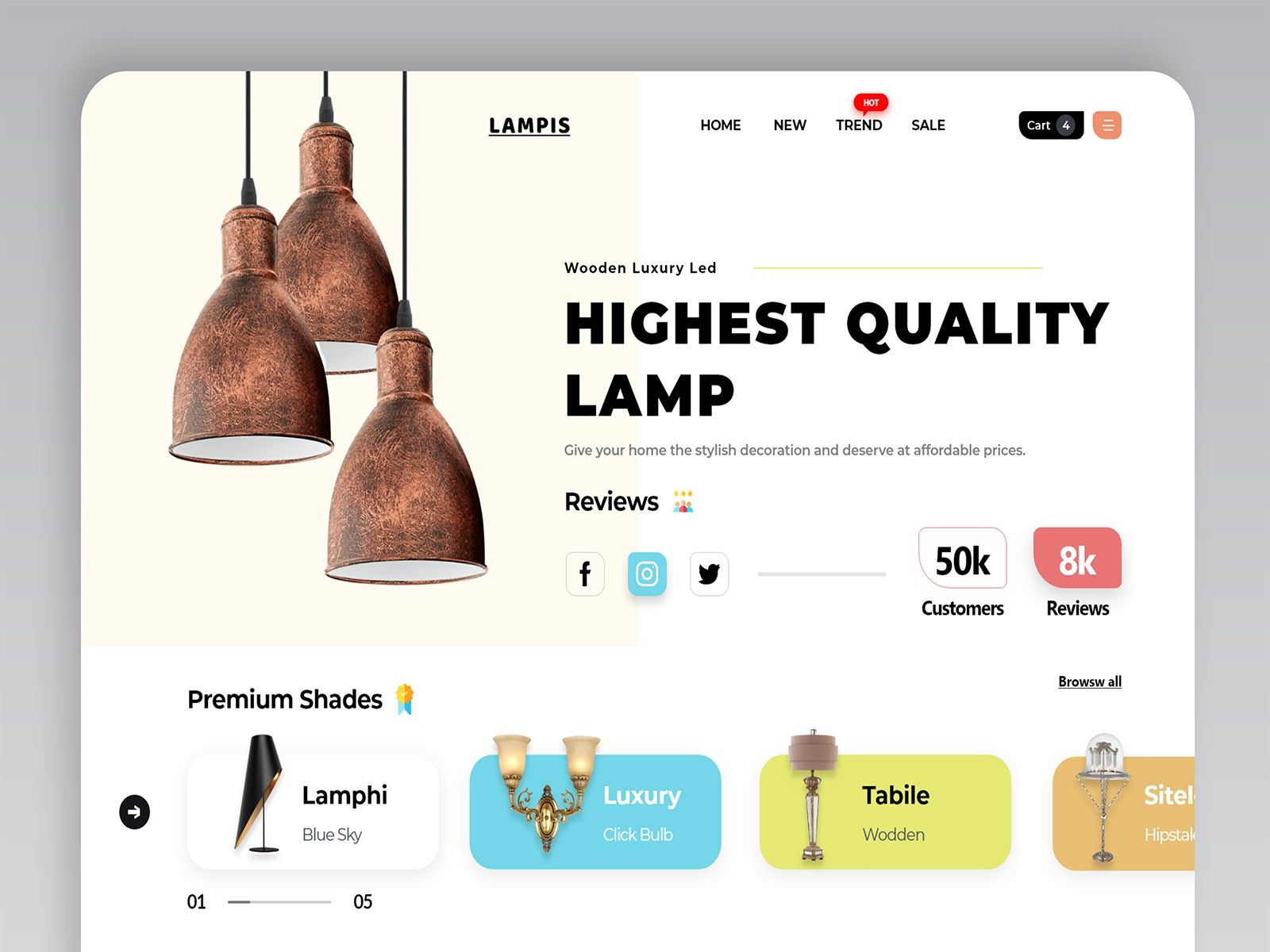 Luxury Lamp Web Design In 2020 Luxury Lamps Web Design Design Jobs