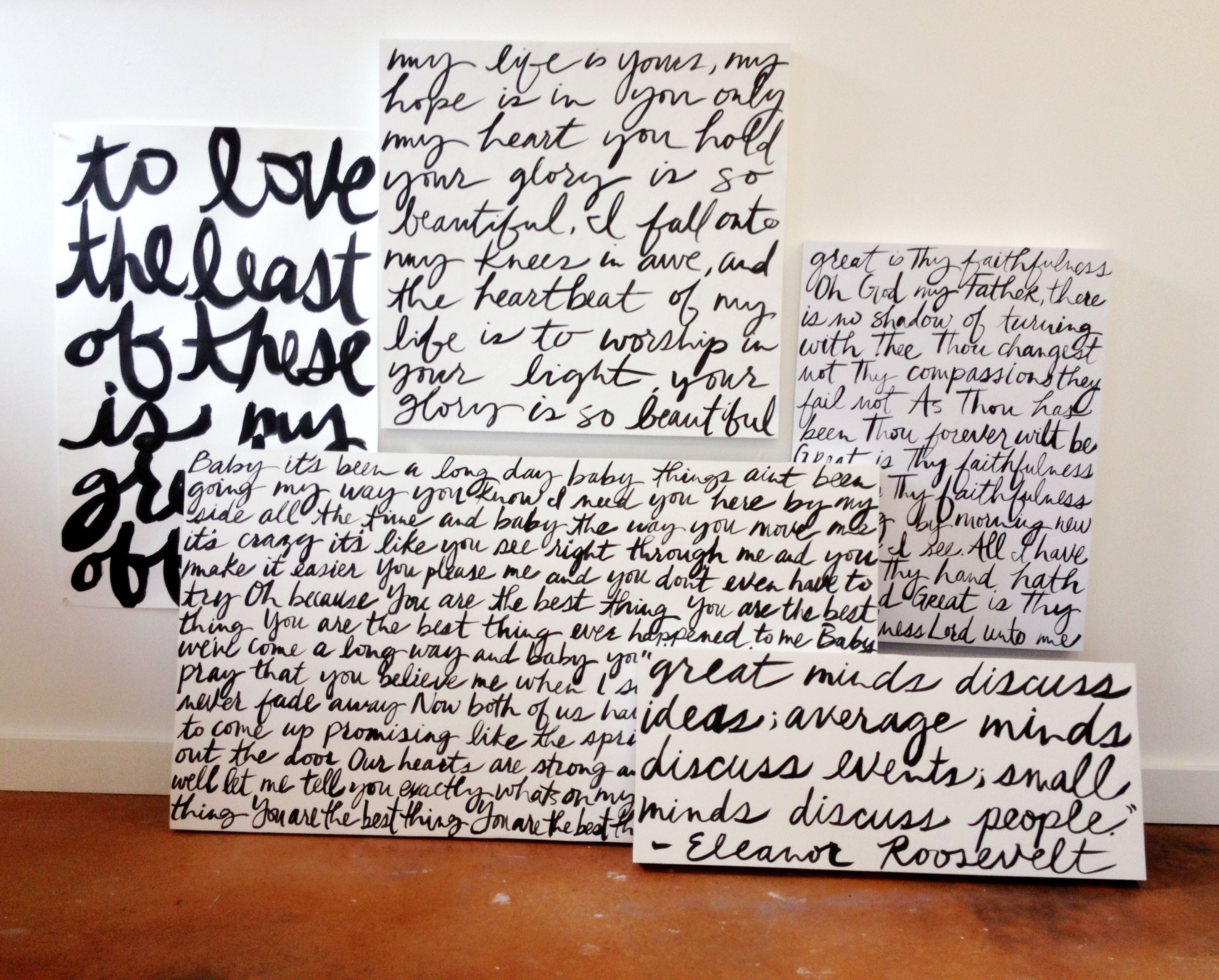 order a custom handwriting painting from deeann rieves with quotes
