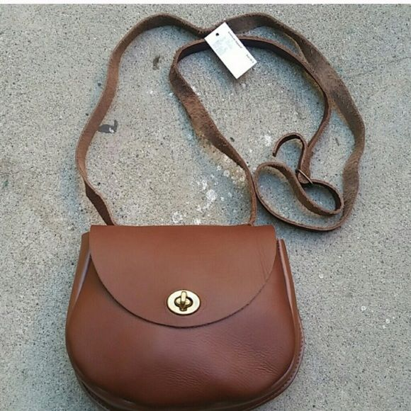 NWT brown leather crossbody purse Brand new with tag brown leather crossbody purse. American Apparel brand. Never used, no defects. Bags Crossbody Bags