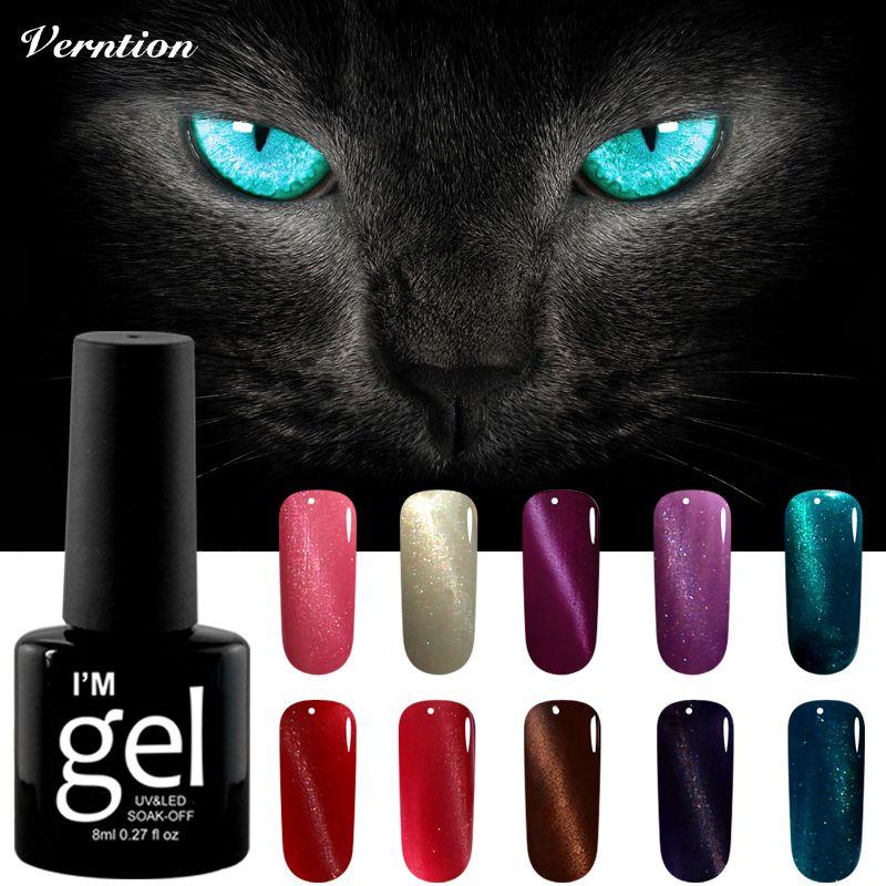 Verntion 3d Uv Gel Nagellack Led Magnet Katze Augen Farbe Tranken