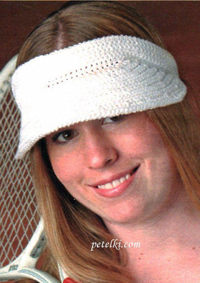 Ободок с козырьком вязаный крючком | Шапки, шляпки и шарфы ...