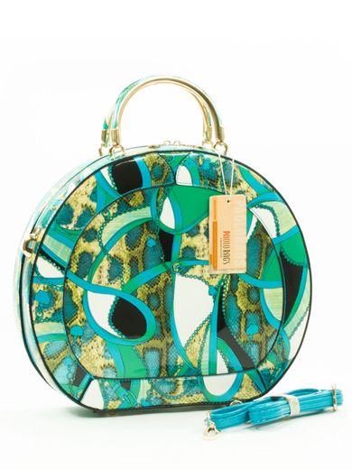 148a28bde3c Paola turquoise snake print handtas | Tassen - Tassen, Sieraden en ...