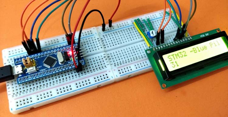 Interfacing LCD with STM32F103C8T6 STM32 Board (Blue Pill