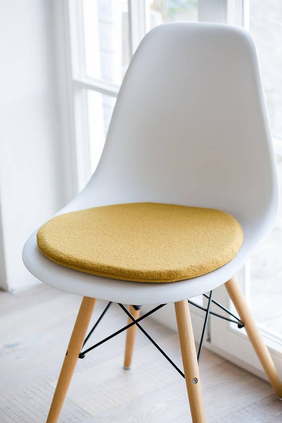 Seat Cushion Fitting For Eames Chair In Mustard Yellow In