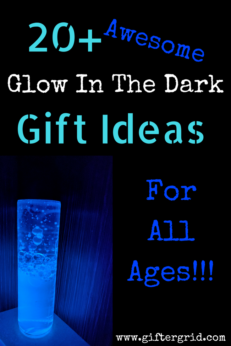 Fun and amazingly memorable gift ideas that glow-in-the-dark, which are perfect for night owls, those who love to party or those that love things that glow! These gift ideas are perfect for all ages and even includes DIY gift ideas! Note that some of these ideas require a UV light. You can find more gift ideas based on a person's interests and hobbies at giftergrid.com!