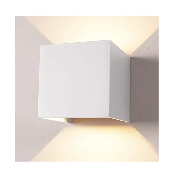 Led Aluminum Waterproof Wall Lamp 12w 100 277v 3000k Adjustable Outdoor Wall Light Warm Light 3 94 Non Dimmable Wall Lights Outdoor Wall Lighting Wall Lamp