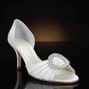 Something Bleu Cash White Wedding Shoes