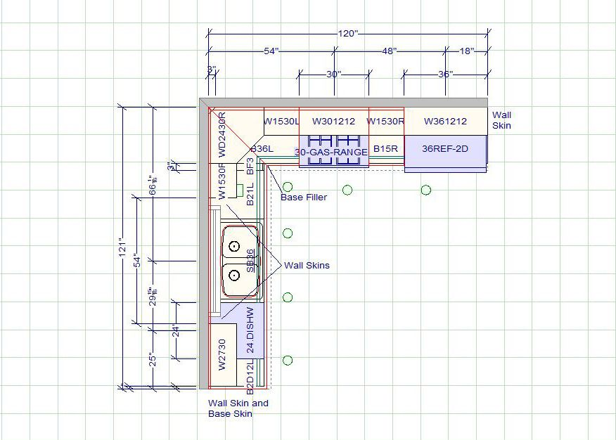 10 X 12 Kitchen Layout | 10 X 10 Standard Kitchen Dimensions   Cabinet  Sense