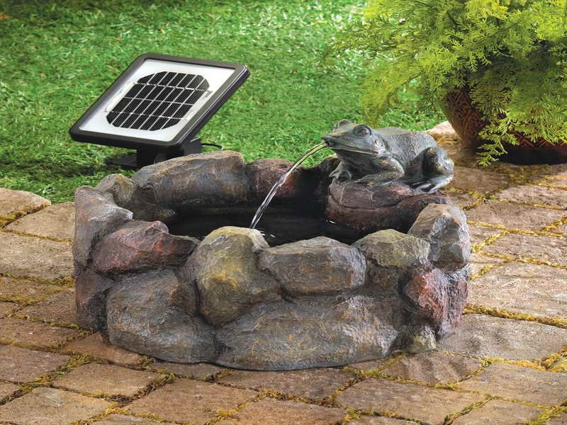 Small+Patio+Water+Fountains | Powered Water Fountain For Small Garden: Solar