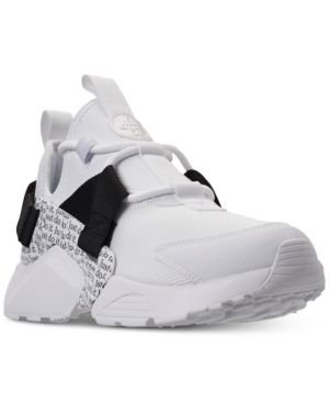 best sneakers 63eef 67894 Nike Women s Air Huarache City Low Premium Just Do It Casual Sneakers from  Finish Line - White 7.5
