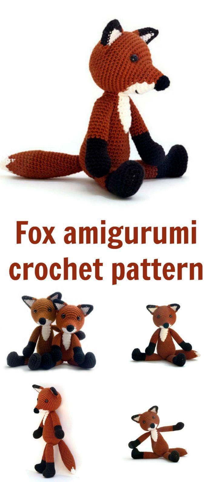 Cute fox doll amigurumi crochet pattern. | CROCHET PATRONES HOJAS ...